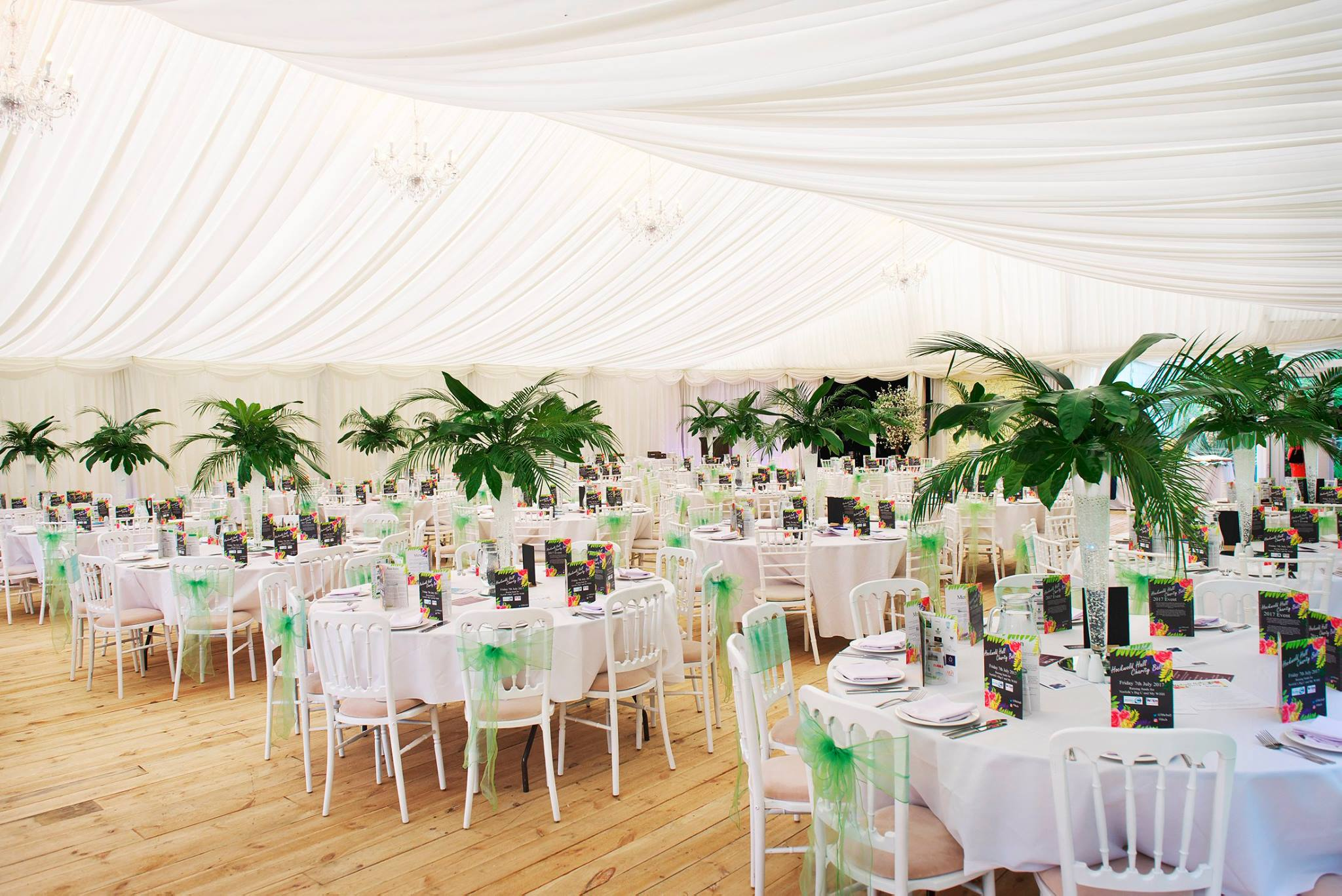 Wedding Marquee in Norfolk: Hockwold Hall Garden Wedding