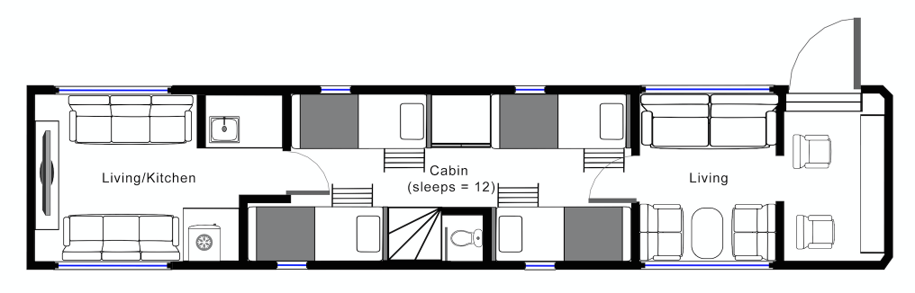 Hockwold Hall: Black Tour Bus Floorplan