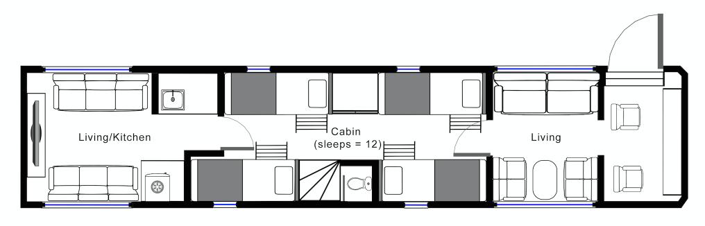 Hockwold Hall: Black Tour Bus Floorplan