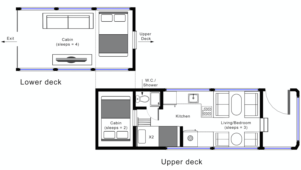 Hockwold Hall: Tour Bus Floorplan