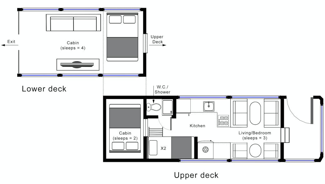 Hockwold Hall: Tour Bus Floorplan