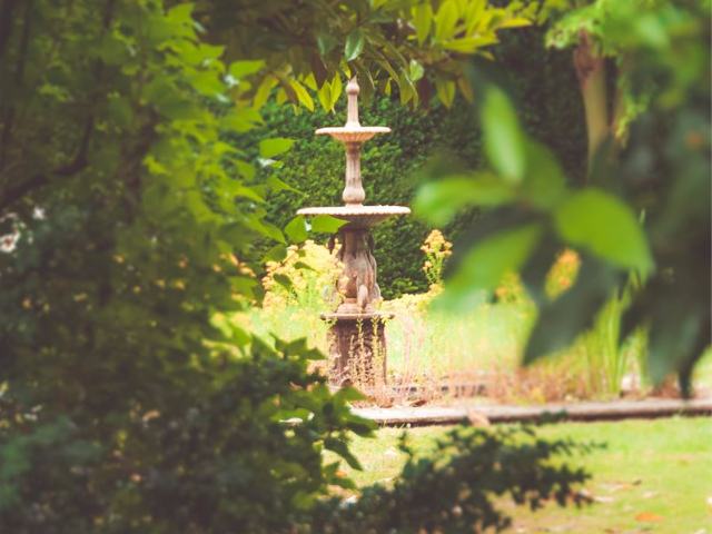 Fountain in the Grounds at Hockwold Hall